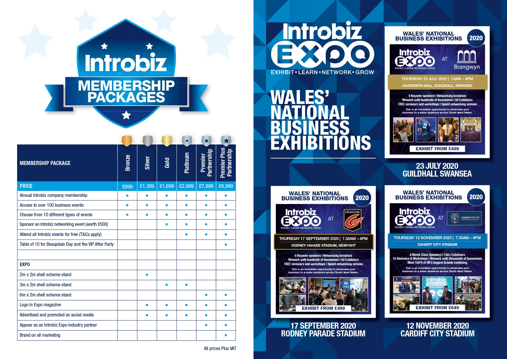 Menu 2 - Introbiz Membership Packages and Stand Pricing