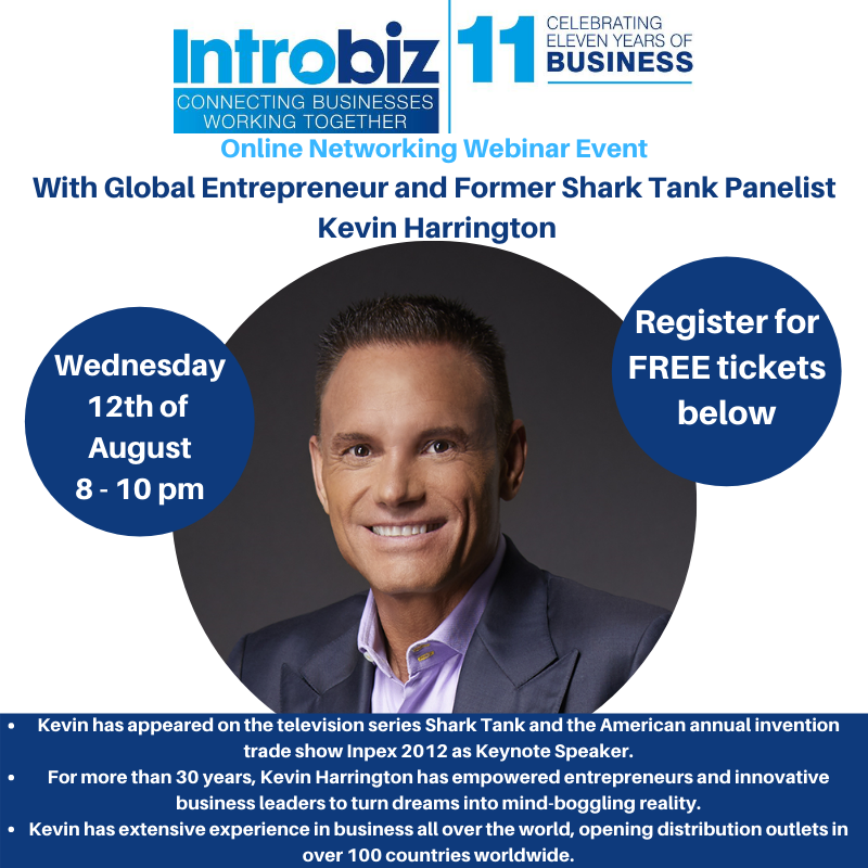 Introbiz online networking event with Global Entrepreneur and Shark Tank Panelist, Kevin Harrington