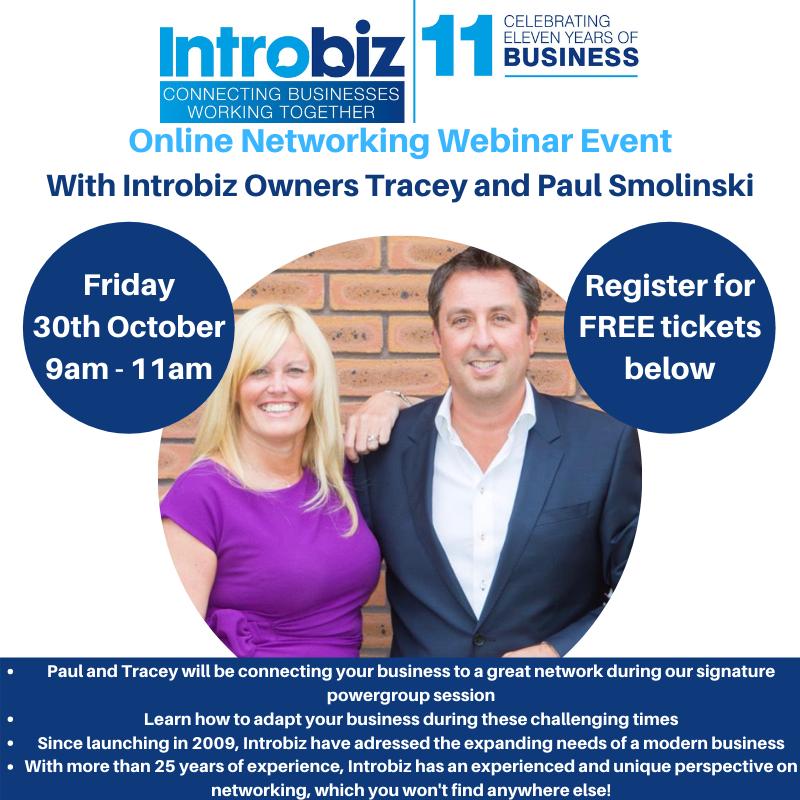 Introbiz Online Networking Event With Introbiz Founders, Tracey and Paul Smolinski