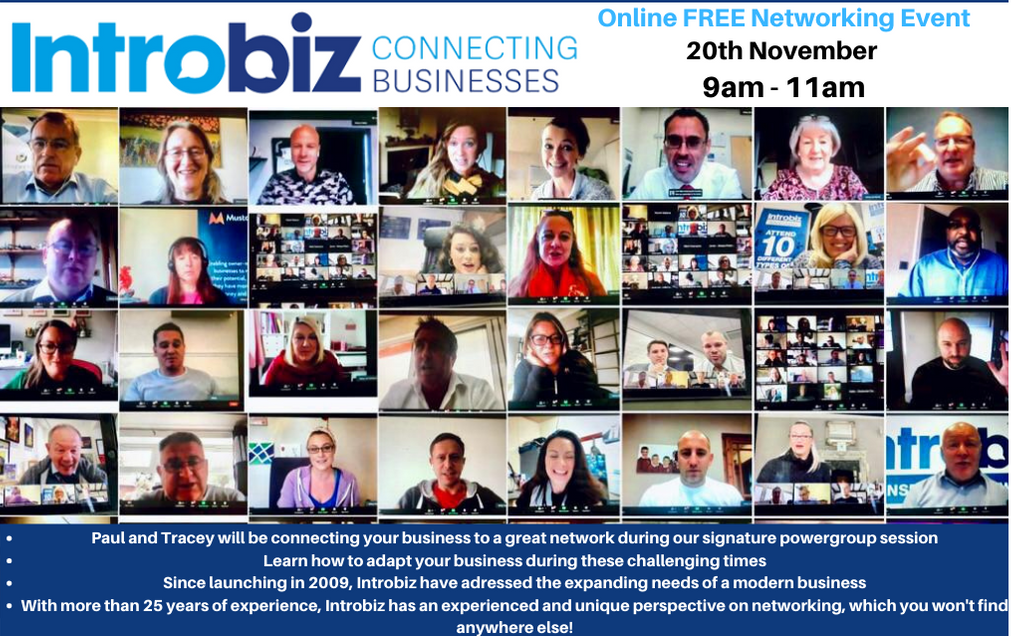 Wales & UK Online Networking Event hosted by Introbiz UK Ltd