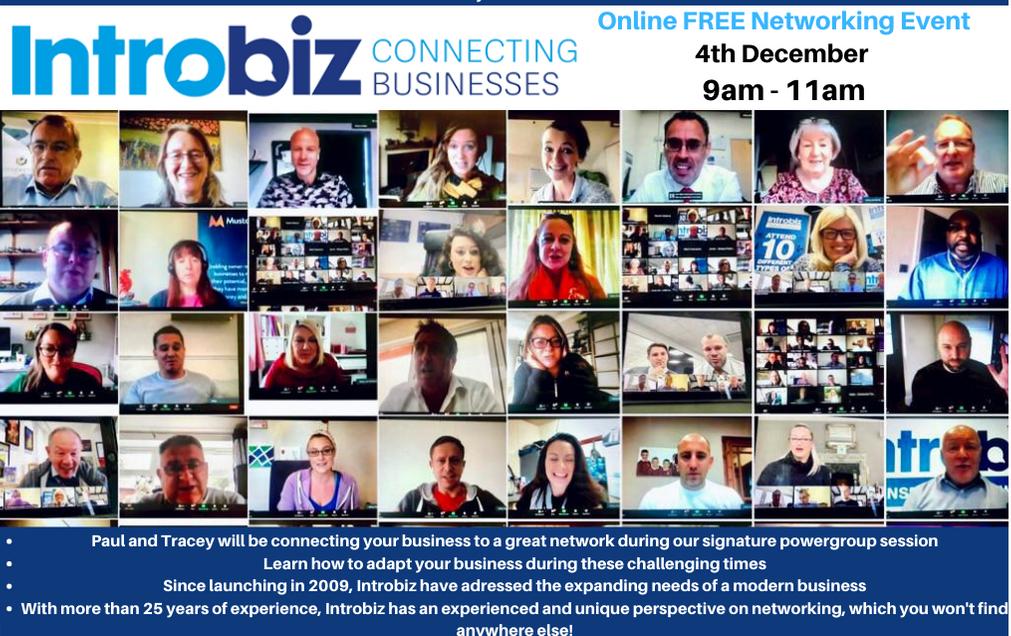 Introbiz Online Business Networking Event