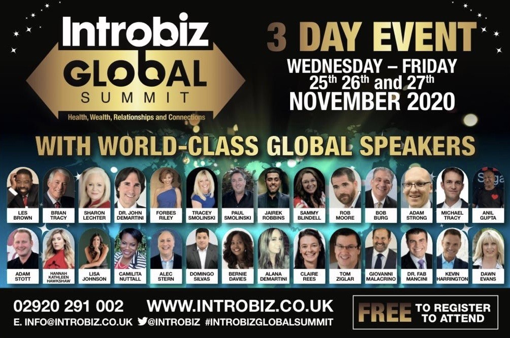 Introbiz Global Summit Speaker Lineup - Help 'The Pituitary Foundation' to save lives!