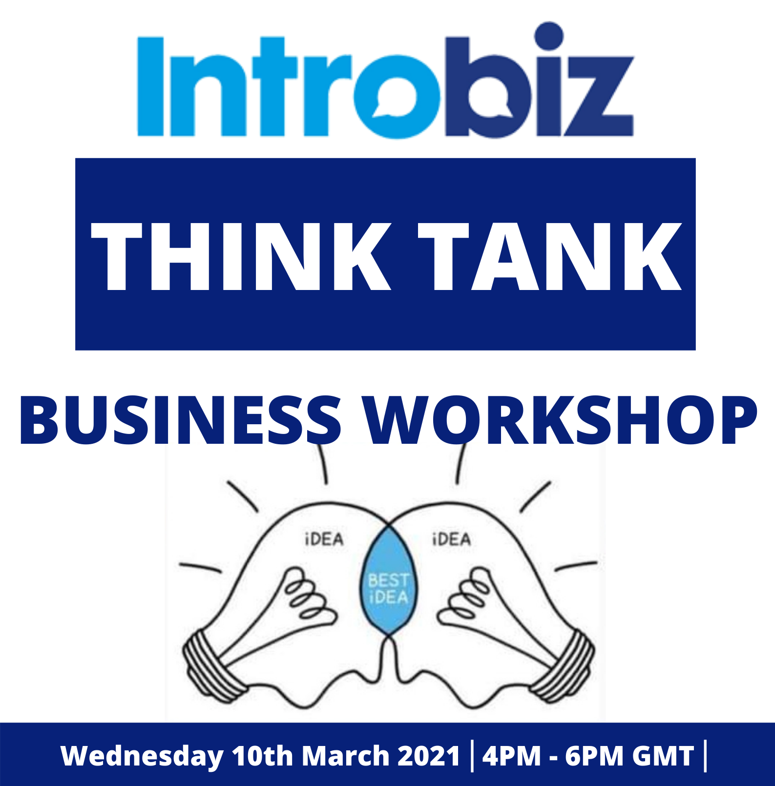 'Think Tank Business Workshop' Virtual Networking Event 10/03