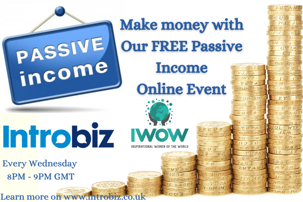 Online Passive Income Event hosted by Introbiz & IWOW