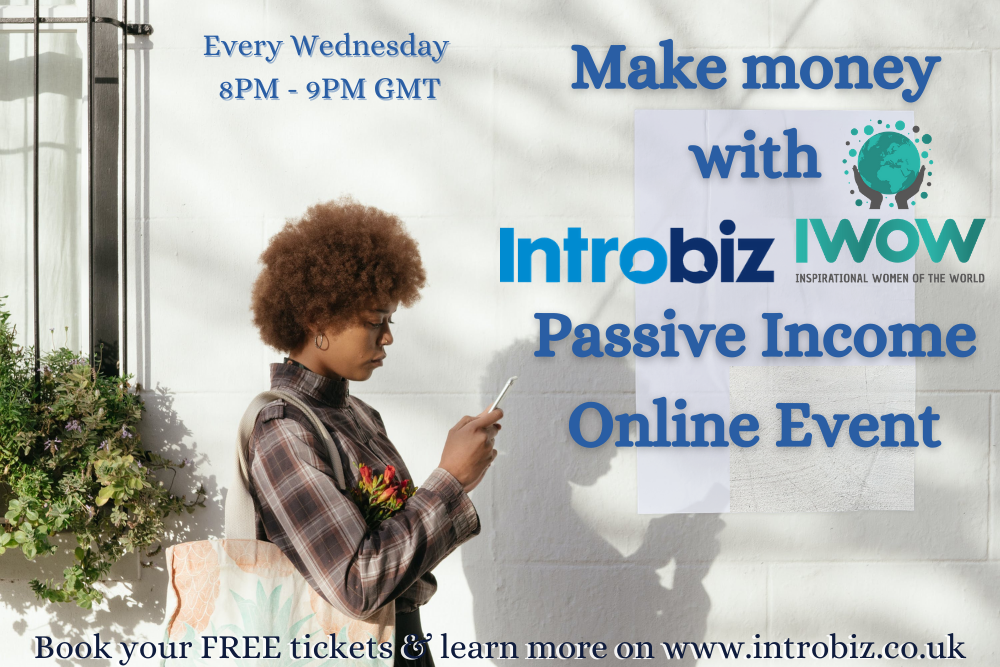Online Passive Income Event hosted by Introbiz & IWOW 14/04