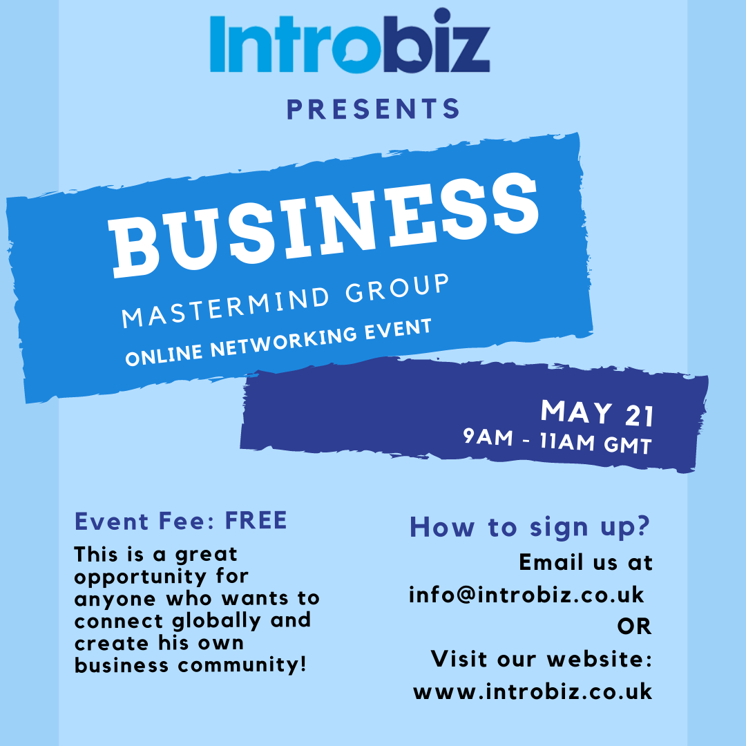 Business Mastermind session 21/05