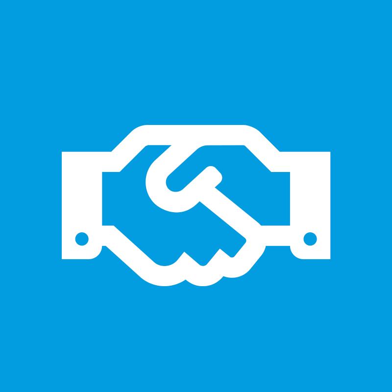 Handshake graphic - Sponsorship Packages