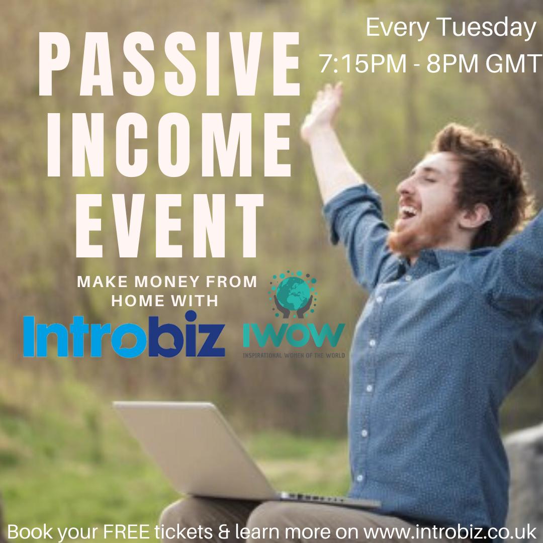 Online Passive Income event 29/06