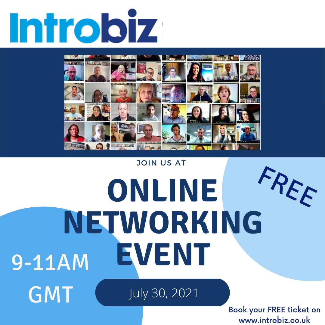 Online Networking Event with Introbiz UK 30/07